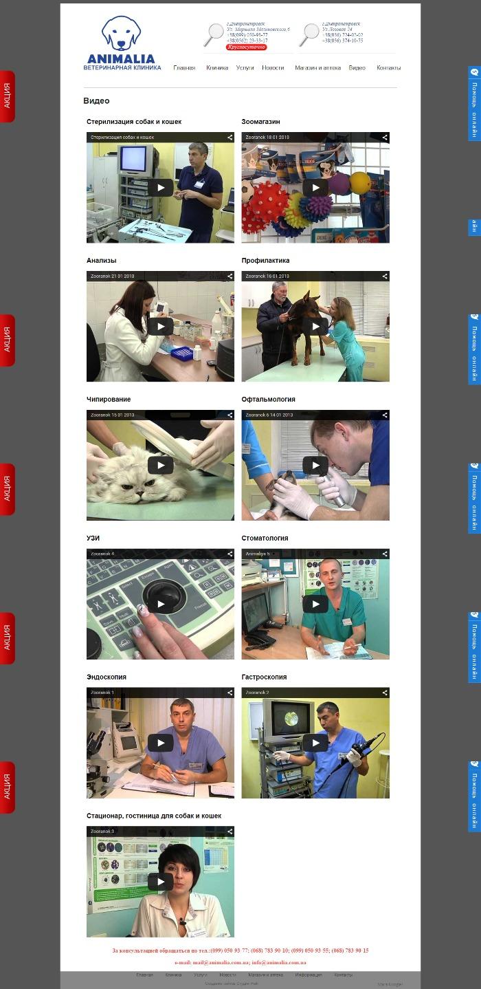 видео клиники анималия