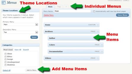 Меню для вордпресс: как сделать меню сайта на wordpress, как изменить меню в вордпресс, а также как установить меню вордпресс на сайт