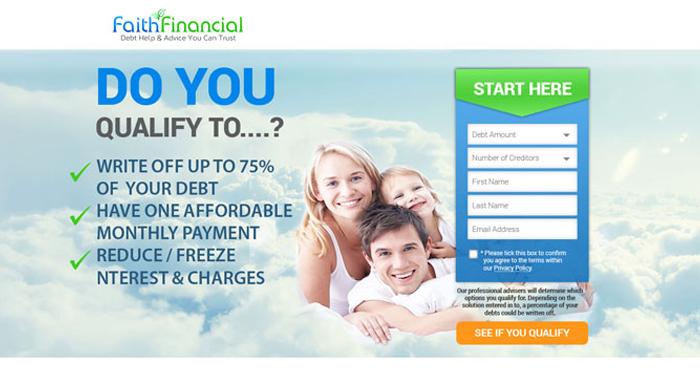 лендинг пейдж faithfinancial.co.uk