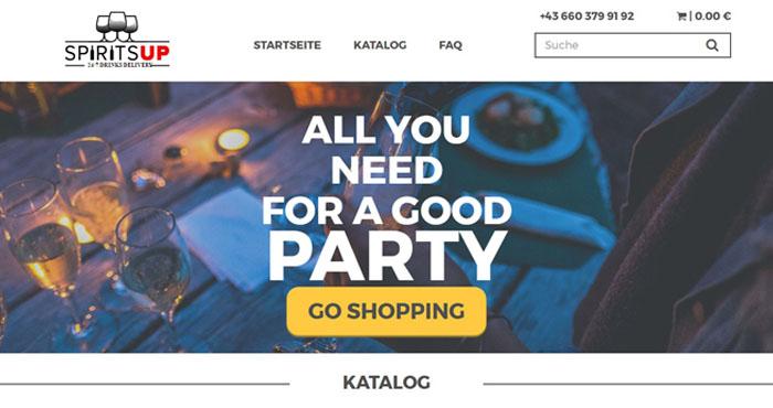 Сайт для магазина спиртных напитков с доставкой (Австрия, г. Вена)