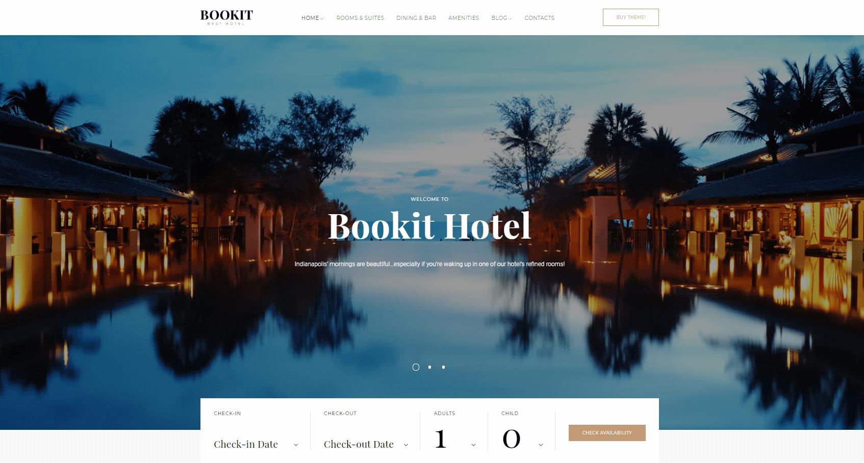 Сайт гостиницы Bookit