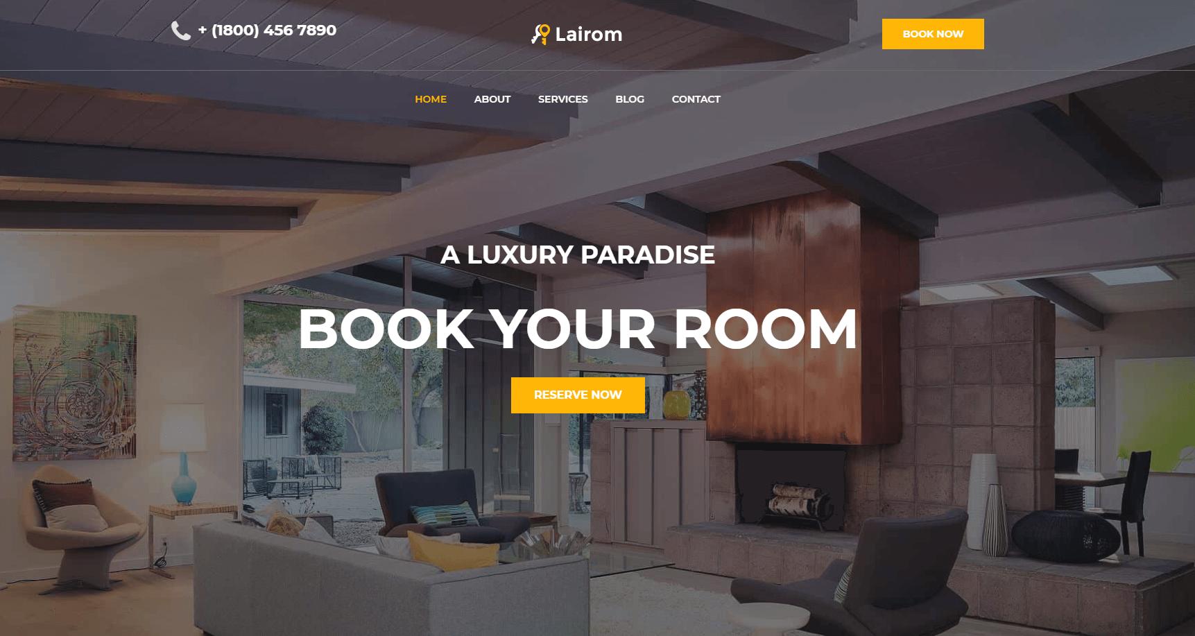 Сайт отеля Lairom
