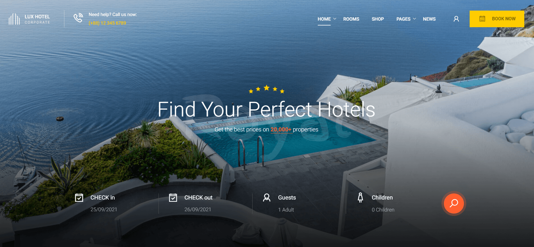 Сайт отеля Люкс