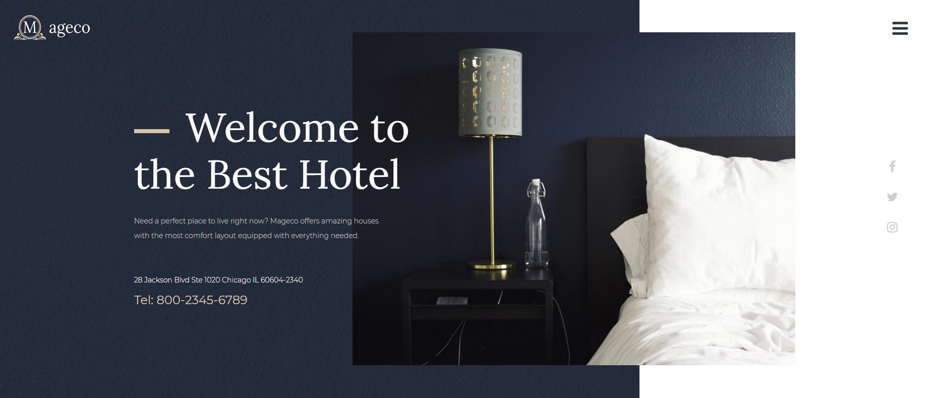 Сайт отеля Mageco