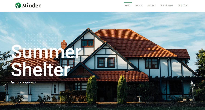 Сайт отеля Minder