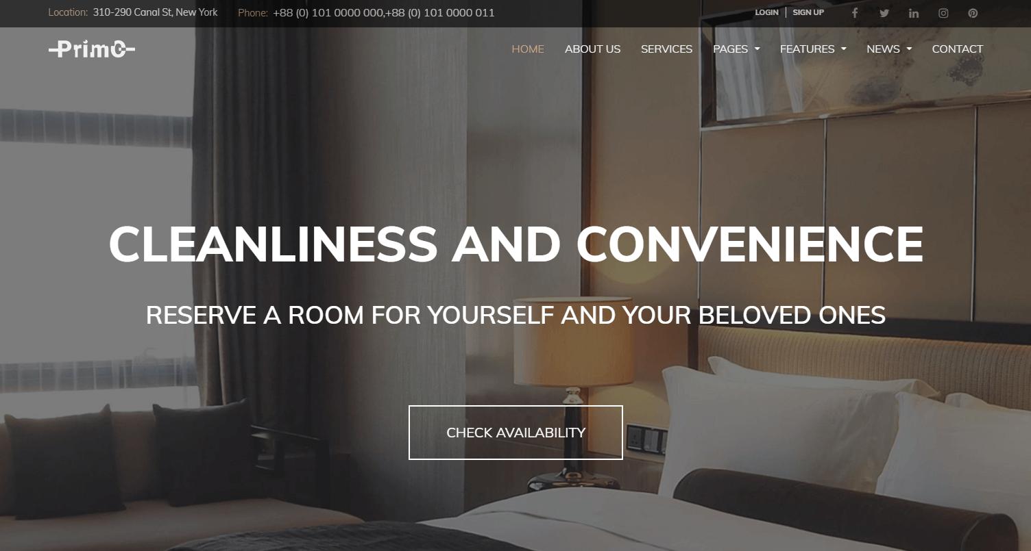 Сайт отеля Primo
